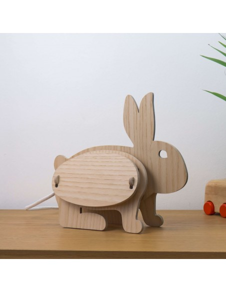 Rabbit design kid light wood ecogical made in France ZOO Gone's