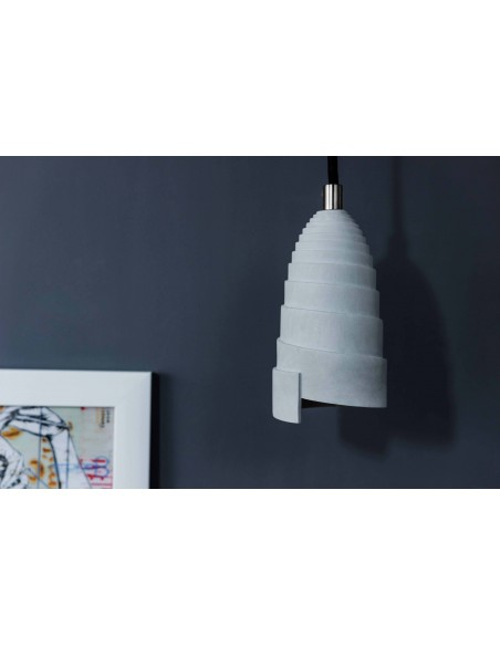 Bedroom concrete pendant light FLANELLE
