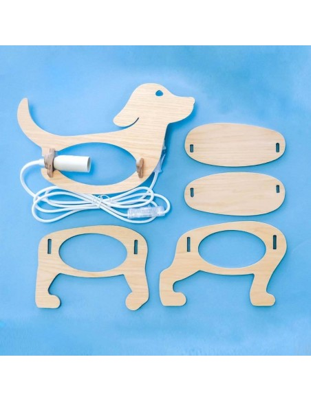 Dog design baby kids light made in France ecology ZOO Gone's