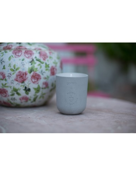 Ecological scented candle mineral  concrete pot made in France Marseille provence HA LONG Gone's Lou Candeloun
