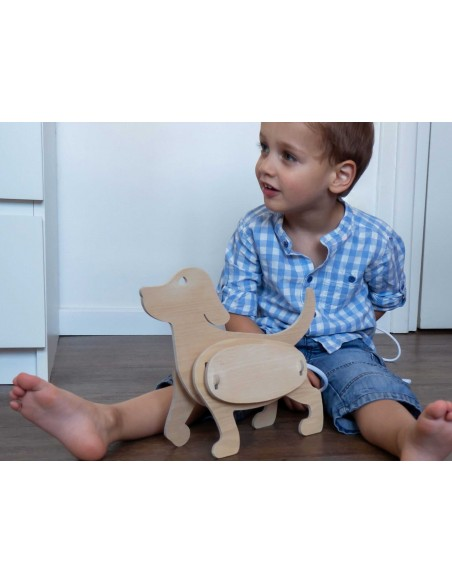 Veilleuse design original en bois enfant chien made in France ZOO Gone's