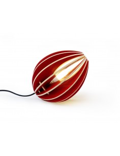 Wood table lamp, red - B stock