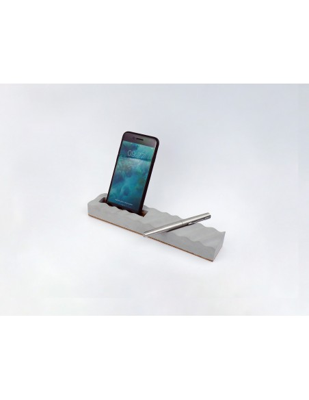 Design original ecological concrete pencil smartphone holder made in France ONDE