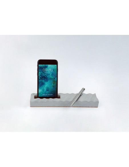 Design ecological concrete pencil smartphone holder made in France ONDE