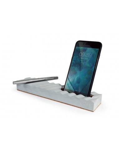 Concrete phone and pencil holder - Onde