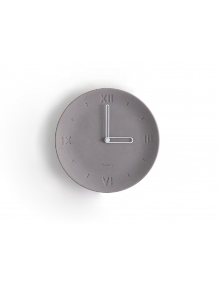 ANTAN concrete ecological plate clock made in France decoration