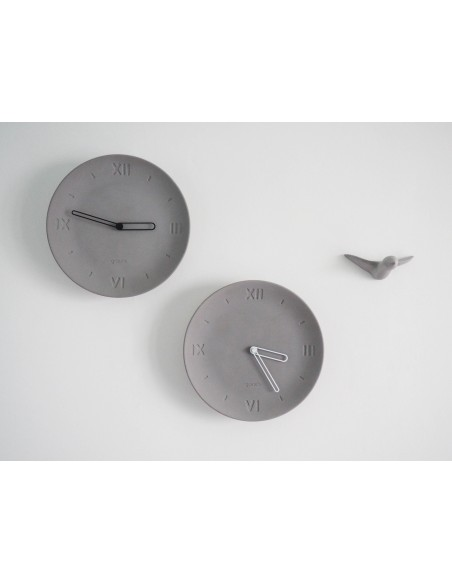 Concrete ecological clock plate made in France ANTAN