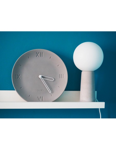 ANTAN concrete ecological plate clock made in France decoration white hands