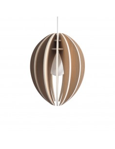 Oak wood design pendant lamp and concrete ceiling rose FEVE