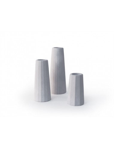 Concrete vase trio - Facette