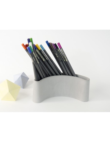 Design original pencil holder PARENTHESE mineral concrete promotional product