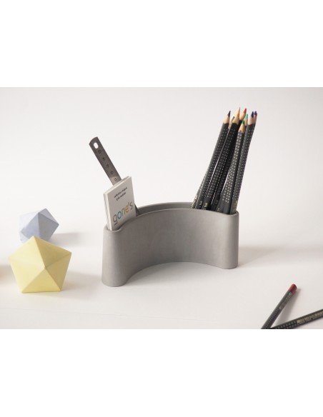 PARENTHESE design original pencil holder mineral ecological concrete