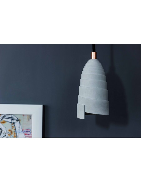 Concrete pendant light FLANELLE made in France